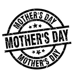 Mothers day round grunge black stamp vector