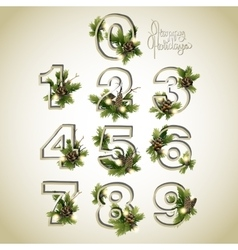 New Year collection of numerals vector