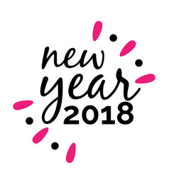 New year text 2018 image vector