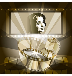 Old movie vector image