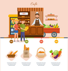 people in the cafe choose products from the menu vector image