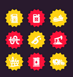 Petroleum industry icons vector