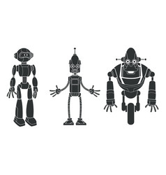 Pictogram set robotic character vector