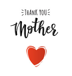 poster with thank you mother text vector image
