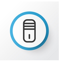 processor icon symbol premium quality isolated vector image