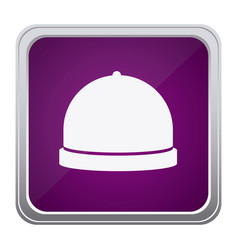 purple emblem catering icon vector image