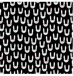 Rabbit seamless pattern-17 vector