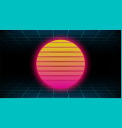 Retrowave synthwave vaporwave yellow pink gradient vector