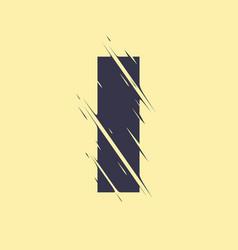 scribbled letter i vector image