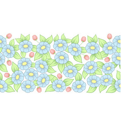 seamless pastel full floral brush vector image