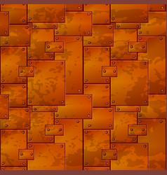 Seamless pattern metal rusty iron plates vector
