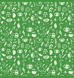 seamless pattern with hand drawn sketched doodle vector image