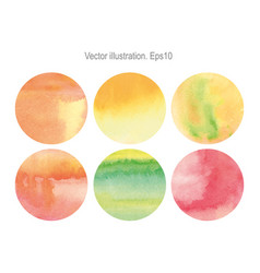 set of round of round watercolor vector image