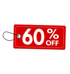 special offer 60 off label or price tag vector image