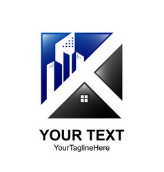 square real estate logo designs for business vector image