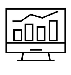 Stats icon vector