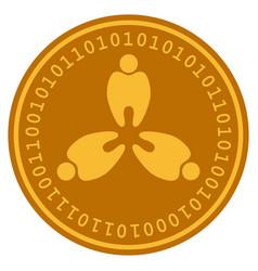 Stomatology digital coin vector