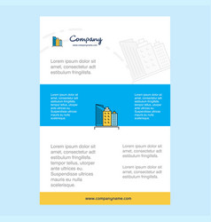 template layout for buildings comany profile vector image