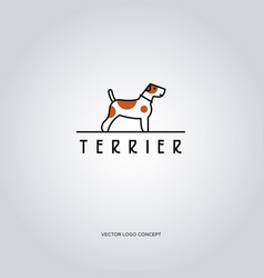 Terrier logo dog emblem vector
