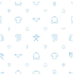 Textile icons pattern seamless white background vector