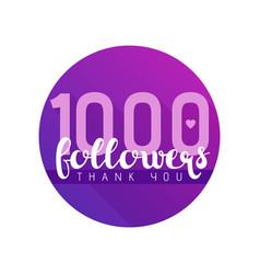 Thousand followers banner vector