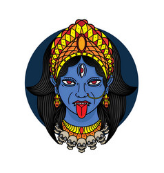 traditional tattoo kali vector image