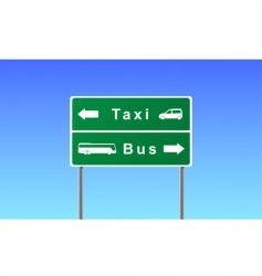 transport sign vector image