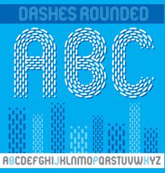 upper case modern alphabet letters abc set vector image