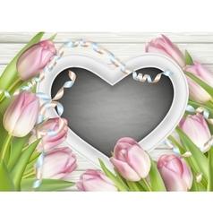 Valentines day blackboard EPS 10 vector image
