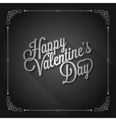 valentines day vintage movie design background vector image