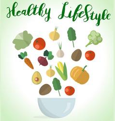 vegetables styleeps vector image