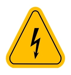 Warning icons in yellow triangle High voltage vector image