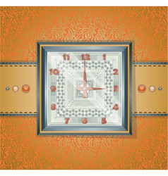 Watch with pattern vector image