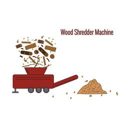Wood shredder machine vector