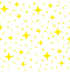 yellow shining star seamless pattern vector image