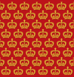 background pattern with royal crowns vector image vector image