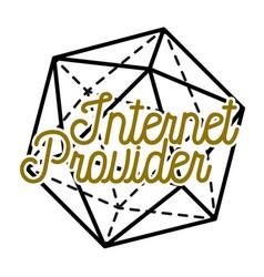 color vintage internet provider emblem vector image vector image