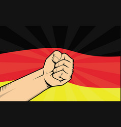 germany fight protest symbol with strong hand and vector image