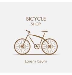 logo bicycle shop vector image