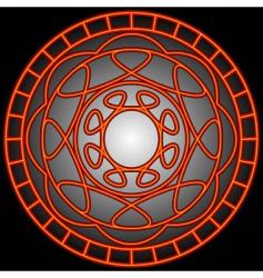 orange swirls in a circle vector image