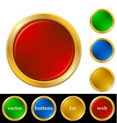 Ring buttons for web vector image vector image