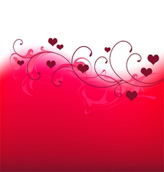 Valentine banner with hearts vector image vector image