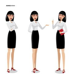 Set of businesswomen on white background vector image vector image