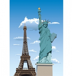statue of liberty in Paris vector image vector image