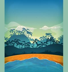 Summer tropical desert island vector