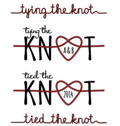 tying the knot set vector image vector image