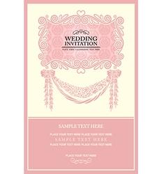 Vintage background wedding invitation vector image