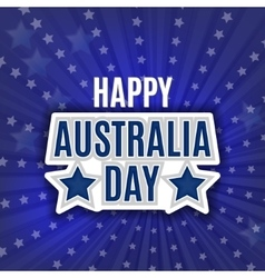 Australia Day - 26 January - Vintage Typographic vector image