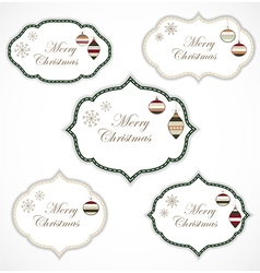 Christmas frames vector image vector image