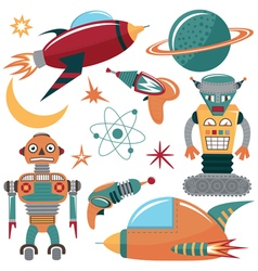 Colorful space invaders vector image